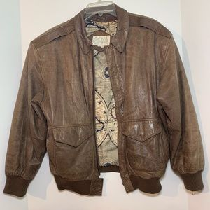 Carlisle leather brown jacket size S